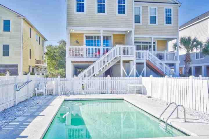 Your large private pool.  Beachside Blessings is one side of a duplex, but this pool is for your exclusive enjoyment. - Beachside Blessings, 5BR, Private Pool, Only a Block to the Beach! - Murrells Inlet - rentals