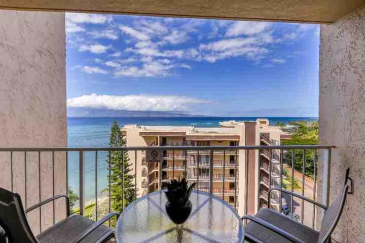Expansive views of the Pacific and Molokai from the lanai of 1003 - Royal Kahana Resort 1003 - Kahana - rentals