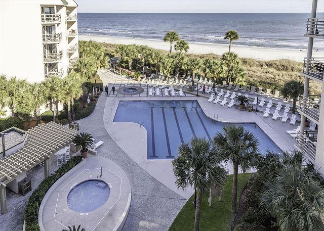 Welcome to Villamare 3524! - Villamare 3524, 2 bedrooms, Oceanfront, Outdoor & Indoor Pool, Spa, Sleeps 6 - Hilton Head - rentals