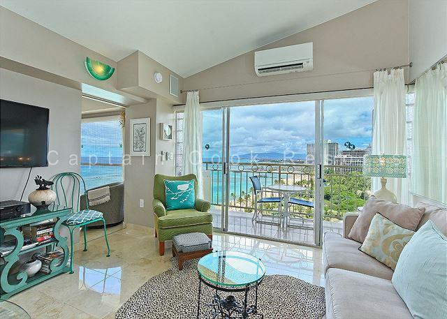 Penthouse condo with million-dollar ocean views! Free parking and WiFi! - Image 1 - Waikiki - rentals