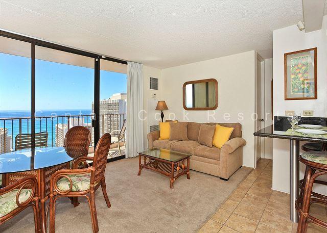 INCREDIBLE Ocean views!  Close to beach!  A/C, WiFi, Parking! - Image 1 - Waikiki - rentals