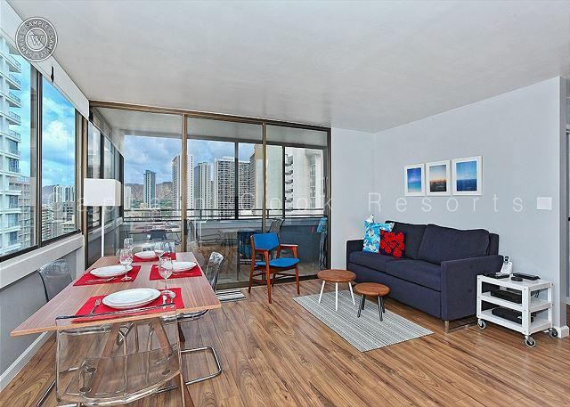 Renovated 21st floor one bedroom with new kitchen and bath! - Image 1 - Waikiki - rentals