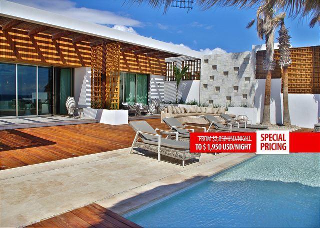 Villa Serena 5 Bdrm Beachfront Paradise - SPECIAL RATE  - CALL TODAY - Image 1 - San Jose Del Cabo - rentals