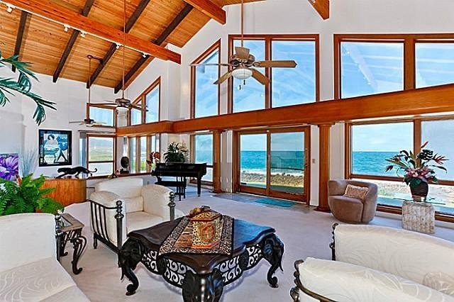 Living Area with stunning views - Shangri La By The Sea - luxurious home w/ pool - Kailua - rentals