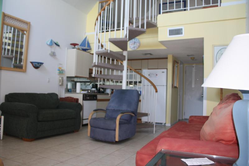 sleeper sofa, love seat, and recliner in living area - Studio+Loft ~ Gulf Shores Plantation #1361 - Fort Morgan - rentals