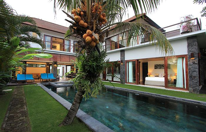 Pool view - Amazing Villa Seroja - spacious 4 bedroom luxury - Seminyak - rentals