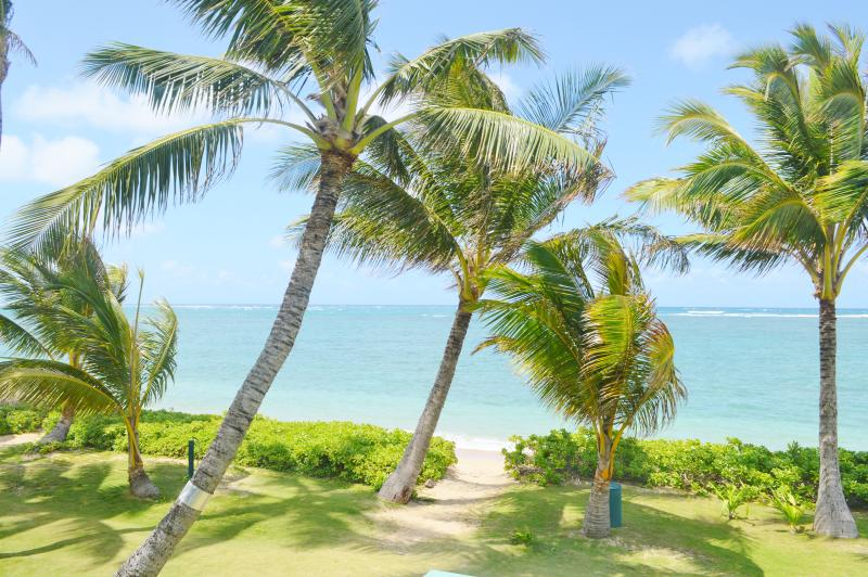 Sandy, tropical beach directly in front of cottage - Sandy Beach Cottage with Breathtaking Ocean Views - Hauula - rentals