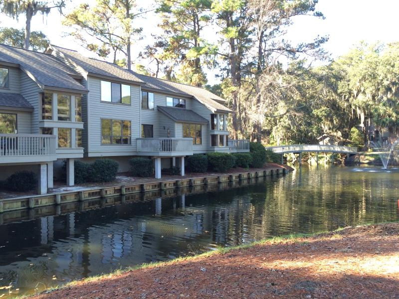 Deck side of Inland Harbour Villa - Sea Pines - Best Location with dramatic Golf View - Hilton Head - rentals