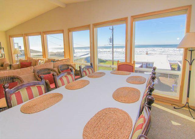 Awaken by the Sea! Panoramic Ocean Views, Steps from Beach, With Hot Tub - Image 1 - Lincoln City - rentals