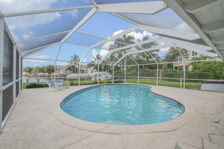Private, in-ground Pool (not heated) & Boat Dock overlooking Compass Bay in The Moorings, Naples. - FEBRUARY 2017 AVAILABILITY! 3BR/2BA Waterfront Pool Home in the Moorings with Dock and Gulf Access! - Naples - rentals