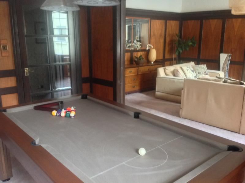 Sliding panel doors give access to pool room/lounge - LOVELY HIGH ST. APT. WITH POOL TABLE AND PARKING - Kirkcaldy - rentals