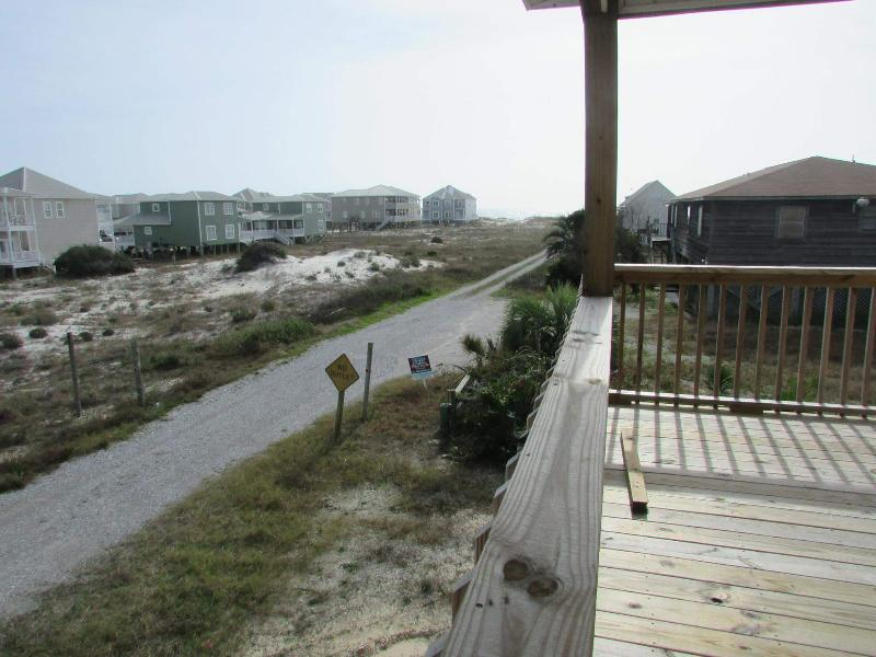 Front Deck View of the Gulf of Mexico of the South Unit - New Duplex- 5 BR/2BA - Sea Dunes South - Fort Morgan - rentals