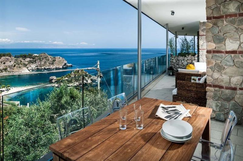Two-Bedroom Apartment Close to Taormina with Sea-View Terrace  - Casa Isola 4 - Image 1 - Taormina - rentals