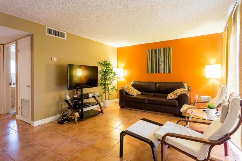 Living Room - Updated Condo in Beachfront Complex - Cocoa Beach - rentals
