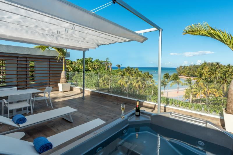 Brand new ocean view terrace with jacuzzi - Nouvelle terrasse avec jacuzzi - New Luxurious Penthouse With A Gorgeous Ocean View - Las Terrenas - rentals