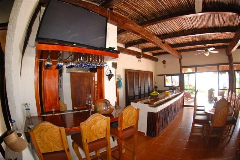 Tulum Beach Front House  Bar and Kitchen - Image 1 - Tulum - rentals