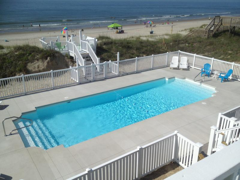 Largest Private Pool on the Island - 16'x44' !! - OCEANFRONT BEACH HOUSE IN EMERALD ISLE NC - Emerald Isle - rentals