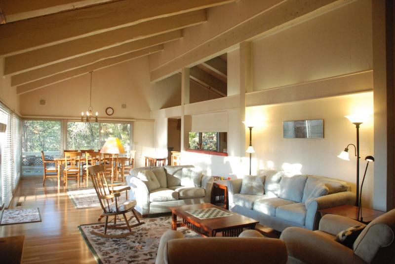 The open living-dining area is great for groups and extended families! - Family Vacations in Yosemite! Spacious & Private! - Fish Camp - rentals