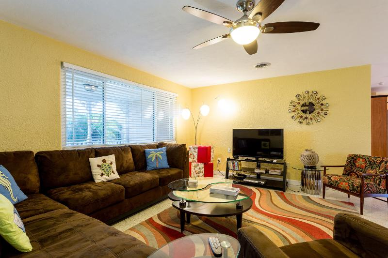 Relaxing Living Area with SMART TV, Netflix, DVD, Hi speed WiFi included - BIKE WEEKS 2017 Now Booking 5* Private Home & Pool - Ormond Beach - rentals