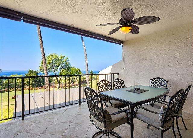 Ocean Views From Lanai with Outdoor Dining for Six - Great Golf Course and Ocean Views! Beautiful Island Home that Sleeps 6! - Kailua-Kona - rentals