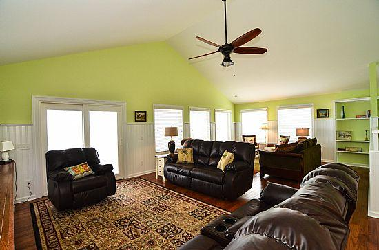 2 COMFORTABLE LIVING AREAS - Sugar Shack- Beautiful Oceanfront 5 Bedroom House - Kure Beach - rentals