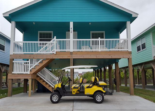 GOLF CART INCLUDED - Shore Beats Work: BRAND NEW!  NFL SUNDAY TICKET, Grill, Golf Cart Included - Port Aransas - rentals