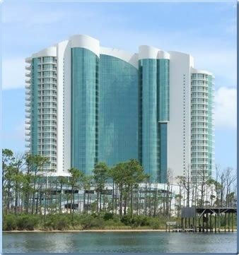 The beautiful turquoise-blue building can be seen for miles! - Turquoise Place!  Hot Tub & Grill on Balcony! - Orange Beach - rentals