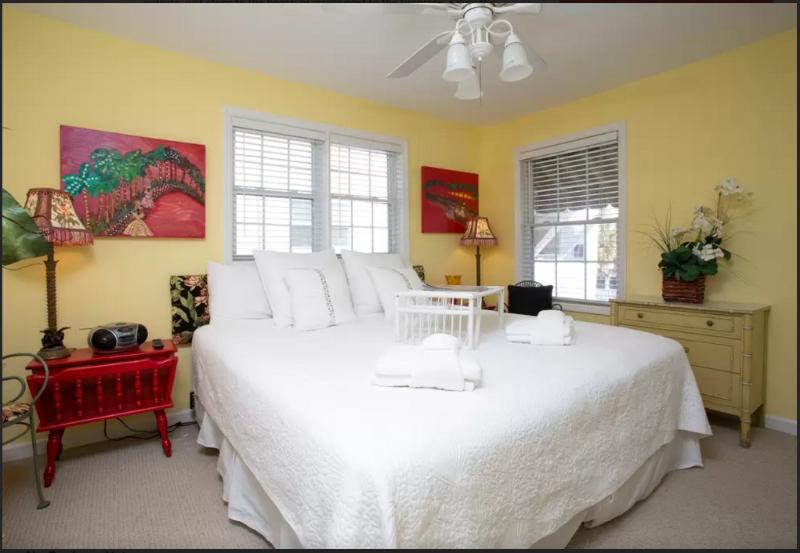 Master Bedroom - Beautiful Oceanside Cottage - Tybee Island - rentals