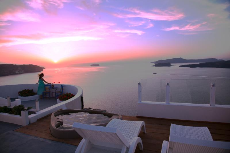 Private Villa on Caldera Cliffs with Unique Sunset - Image 1 - Santorini - rentals