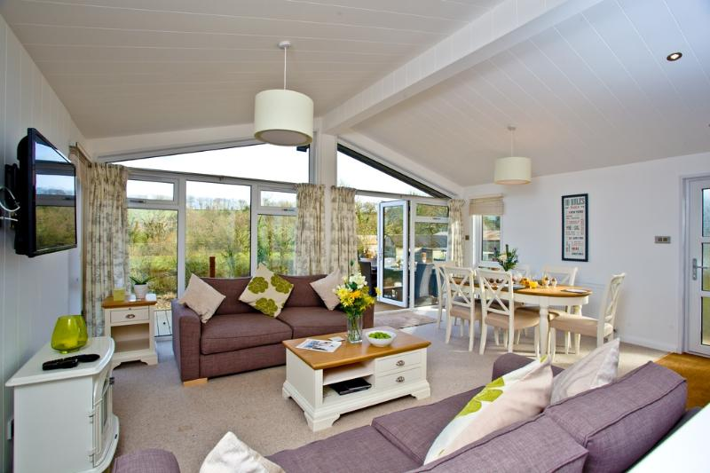 Drake Lodge, Lakeview Manor located in Honiton, Devon - Image 1 - Honiton - rentals