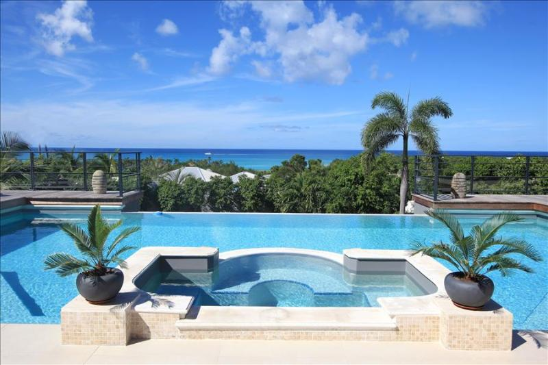 Modern 5 bedroom villa walking distance from beach - Image 1 - Plum Bay - rentals