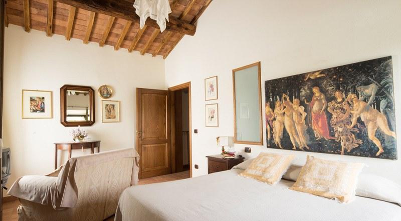 bedroom - Farm apartment Le Ghiande, in Siena countryside - Siena - rentals