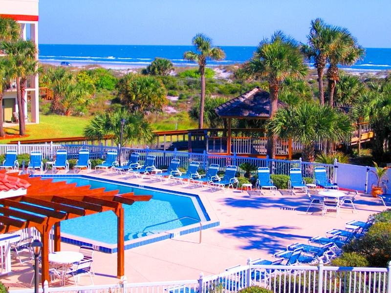 Direct Beach Access for our guests.  Pools Tennis - OCEAN VILLAGE CLUB J32 BEST BEACH, POOLS (1 HEATED), TENNIS, BBQ, WIFI PARKING - Saint Augustine Beach - rentals