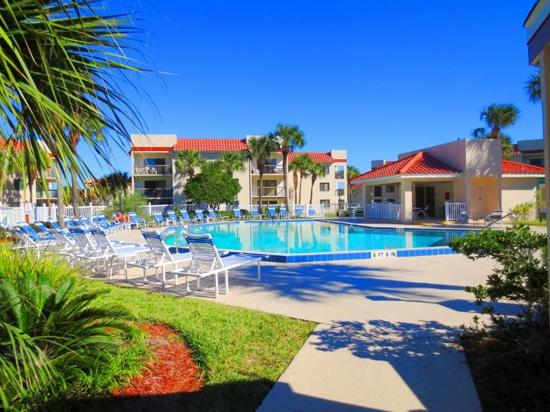 Heated Pool View of/from J32  #anneflovc - OCEAN VILLAGE CLUB J32, BEACH, POOLS (1 HEATED), TENNIS, BBQ, WIFI - Saint Augustine Beach - rentals