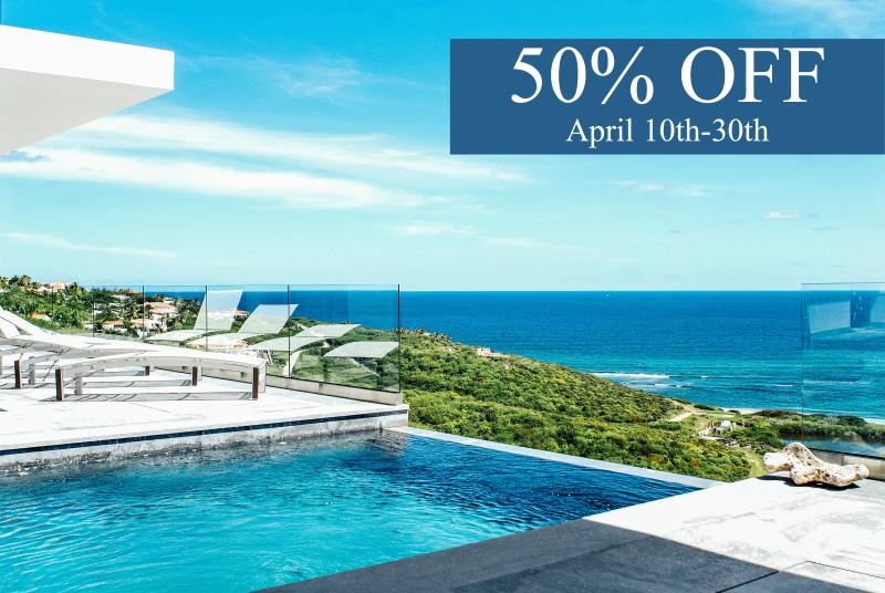 April 10th-30th the Crystal Villa will be available for 50% off.  Some conditions apply. - Luxurious,modern beachview Villa - Philipsburg - rentals