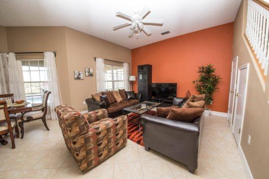Large 5 bedroom 4 Bath Pool Home in The Popular Vista Park. 322VVL - Image 1 - Orlando - rentals