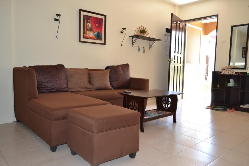 Living room. New sofa Feb. 2016 - Our Magnolia holiday house Bayswater, Mactan, Cebu - Lapu Lapu - rentals