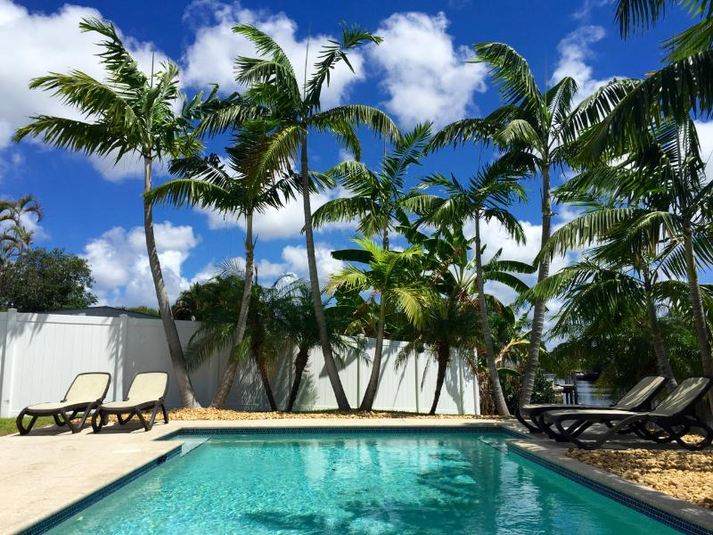 Private, contemporary, solar-heated, salt-based swimming pool. - FLORIDAY HOME - Fort Lauderdale - rentals