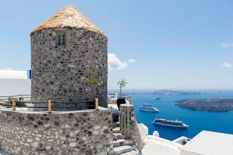 Exterior - Blue Villas | Damia Windmill |Stylish villa - Imerovigli - rentals