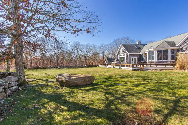 NOBLM - Distinctive Luxury Summer Retreat, Private Tennis Courts, Private Association Beach -Quansoo, Media Room with Projection Screen, Baby Grand Piano - Image 1 - West Tisbury - rentals