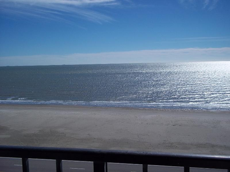 View of Babe Beach taken from 8th floor condo balcony - 2/1 Oceanfront condo on Seawall Blvd. / Babe Beach - Galveston Island - rentals