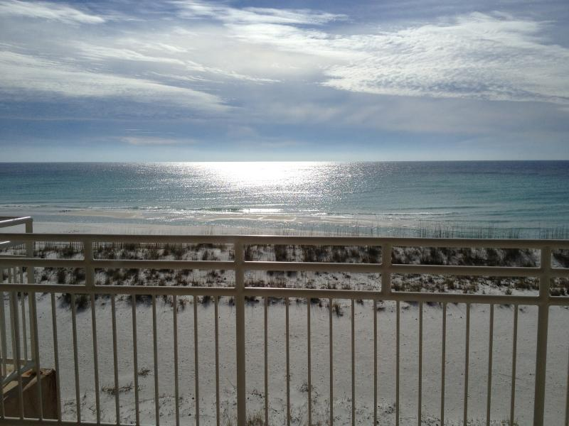 Your morning view from the upstairs master bedroom balcony. Not bad!! - Seafood, Surf & Sunsets! - Pensacola Beach - rentals