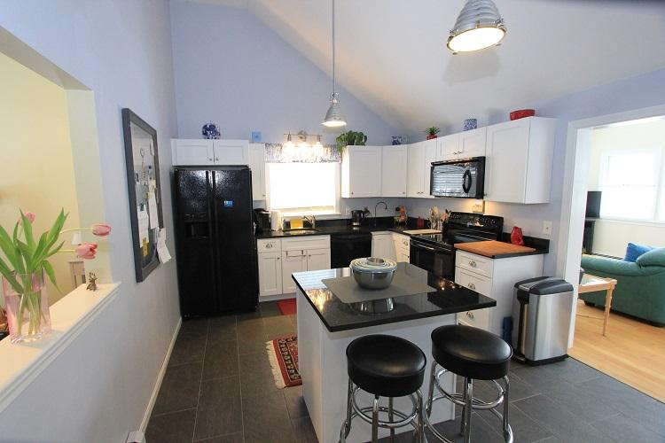 Uupdated kitchen with island seating - 93 Capes Trail - Barnstable - rentals