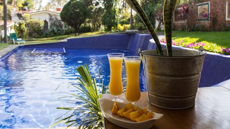 Mimosas by the pool - Vintage Villa Amecameca w/ Pool, Tropical Gardens - Cuernavaca - rentals