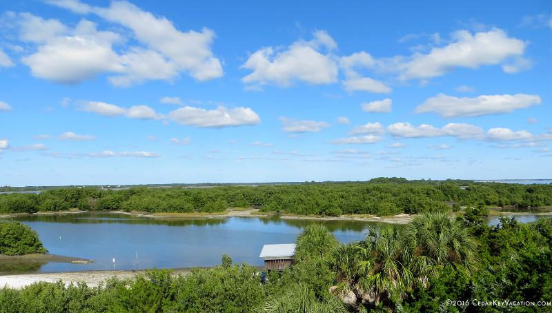 Another beautiful view from Cedar Key Serenity's balcony - Cedar Key Serenity - Waterfront, Kid Friendly, Walk to Dock St. Pool - Cedar Key - rentals