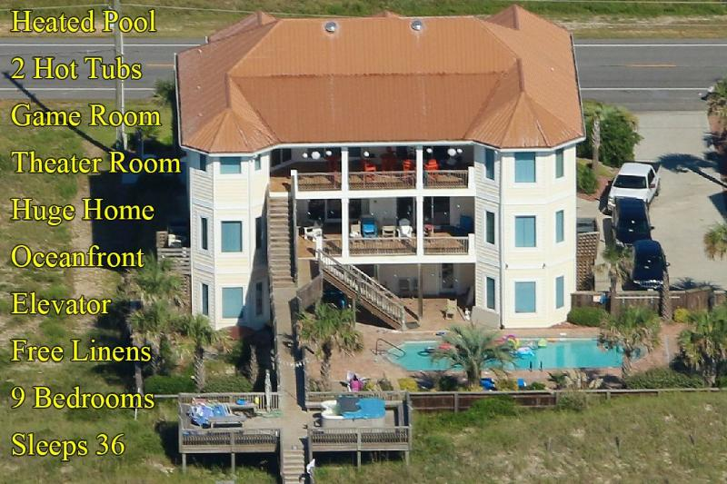 Fun waiting to happen! - Save $2000 on any open week! Island Drive 3682 Oceanfront! | Private Heated Pool, Hot Tub, Elevator, Jacuzzi, Internet Discounts Available- See Description!! - North Topsail Beach - rentals