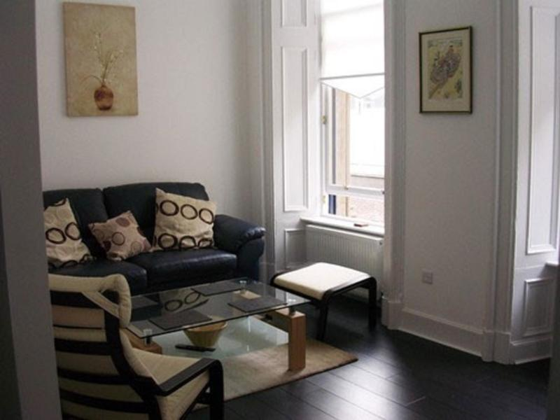 Lounge of stylish apartment with original features - Period Apartment Glasgow Centre - sleeps 4 - Glasgow - rentals