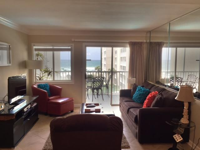 Great view of the Gulf from the living and dining rooms. - Stunning Destin Gulf Front Condo! - Destin - rentals