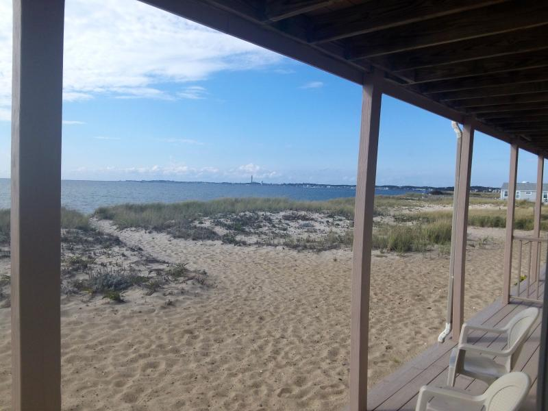 The beach is just a few steps from the back deck. - Beach Point Condo on Cape Cod Bay - Provincetown - rentals