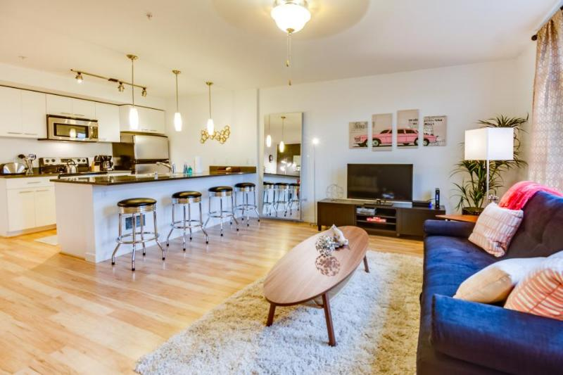 Dog-friendly, waterfront, Green Lake condo - Retro chic! - Image 1 - Seattle - rentals